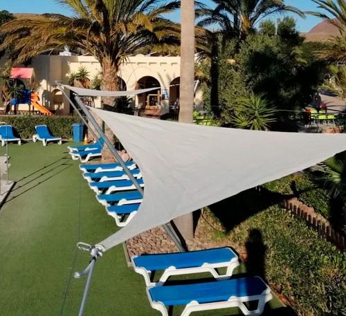 Toldo Vela en Camping los Escullos Almería